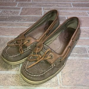 Sperry Tan Sparkle womens 9.5 shoes